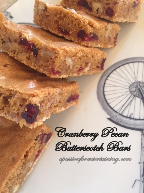 cranberry pecan butterscotch bars
