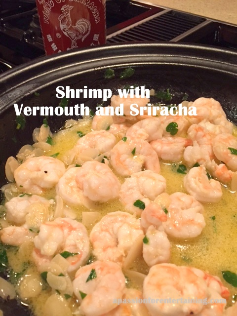 shrimp with vermounth and