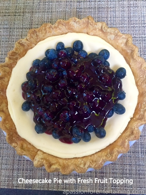 cheesecake pie with fresh fruit topping