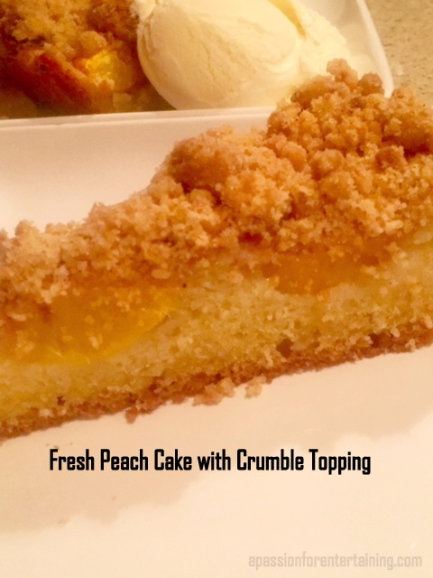 Peach Coffee Cake With Fresh Peaches