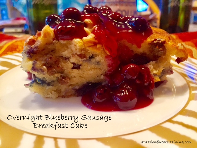overnight-blueberry-sausage-breakfast-cake