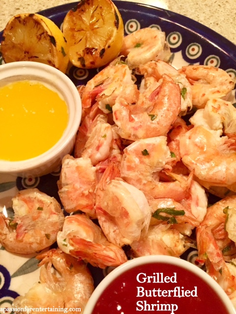 Butterflied Grilled Shrimp A Passion For Entertaining