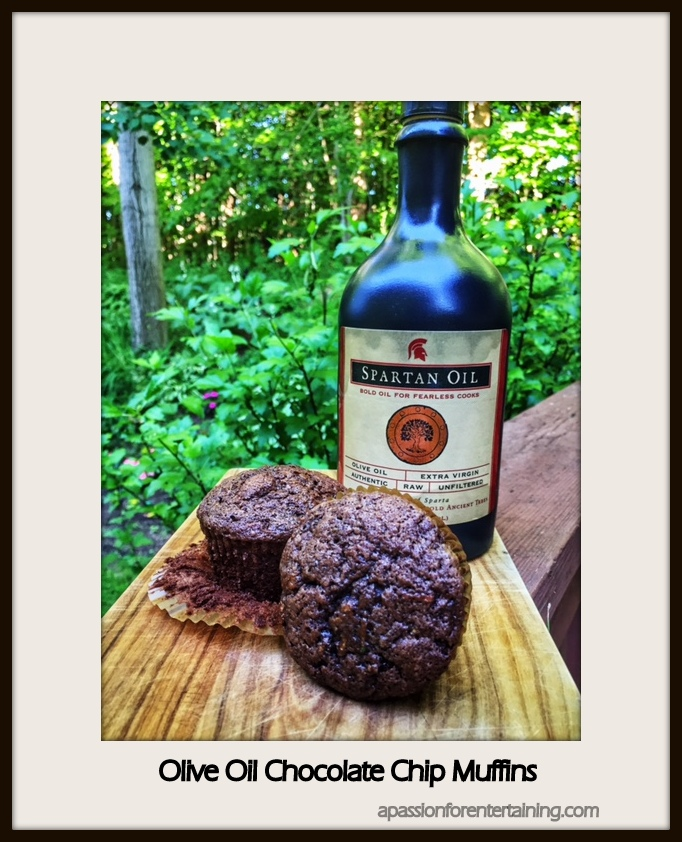 olive oil chocolate chip muffins · A Passion for Entertaining