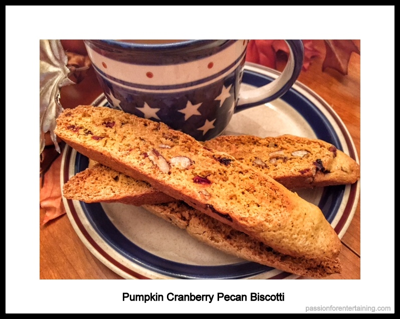 Pumpkin Cranberry Pecan Biscotti · A Passion for Entertaining